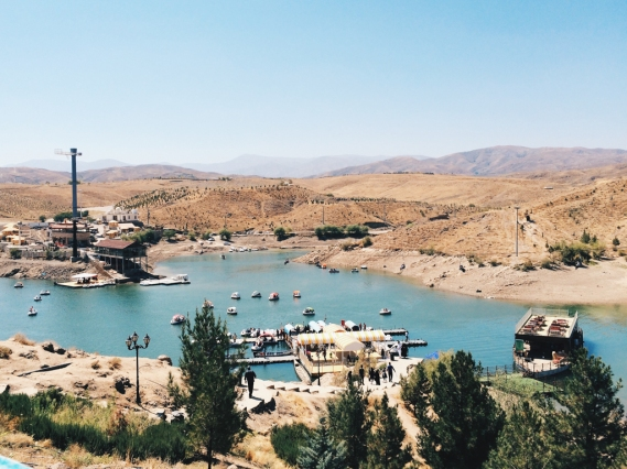 Chalidarreh lake at the border of Mashhad