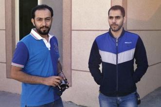 يمين: سيد محمد الموسوي، يسار: حسين بوحليقة
