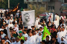 Some are holding a pic for one of the martyrs of AlAnoud